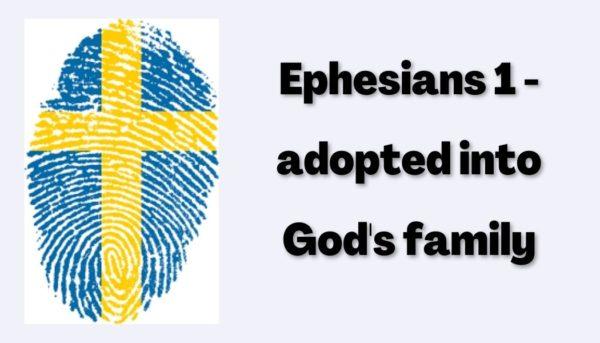 service based on Ephesians Chapter 1